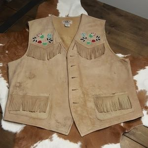Dble RRL Leather Vest Lg